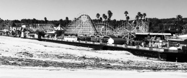 giant dipper black and white photo